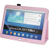 Artificial Leather Case for Samsung Galaxy Tab 3 10.1 Wallet pink