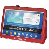 Artificial Leather Case for Samsung Galaxy Tab 3 10.1 Wallet red