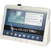 Artificial Leather Case for Samsung Galaxy Tab 3 10.1 Wallet white