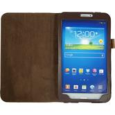 Artificial Leather Case for Samsung Galaxy Tab 3 8.0 Wallet brown