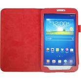 Artificial Leather Case for Samsung Galaxy Tab 3 8.0 Wallet red