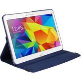 Kunst-Lederhülle Galaxy Tab 4 10.1 360° blau + 2 Schutzfolien