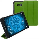 Kunst-Lederhülle Galaxy Tab A 7.0 2016 (T280) Tri-Fold grün + 2 Schutzfolien