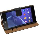 Artificial Leather Case for Sony Xperia Z2 Wallet black