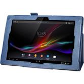 Artificial Leather Case for Sony Xperia Tablet Z Premium blue