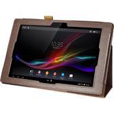 Kunst-Lederhülle Xperia Tablet Z Premium braun