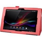 Kunst-Lederhülle Xperia Tablet Z Premium rot