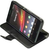 Artificial Leather Case for Sony Xperia Z Wallet black