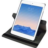 Kunst-Lederhülle iPad Air 2 360° Stoffoptik blau + 2 Schutzfolien