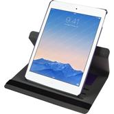 Kunst-Lederhülle iPad Air 2 360° Stoffoptik lila + 2 Schutzfolien