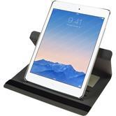 Kunst-Lederhülle iPad Air 2 360° Stoffoptik weiß + 2 Schutzfolien
