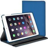 Kunst-Lederhülle iPad Mini 3 2 1 360° Stoffoptik hellblau