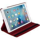 Kunst-Lederhülle iPad Mini 4 360° rot + 2 Schutzfolien