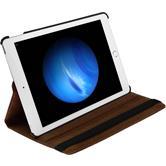 Kunst-Lederhülle iPad Pro 360° braun + 2 Schutzfolien