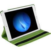 Kunst-Lederhülle iPad Pro 360° grün + 2 Schutzfolien