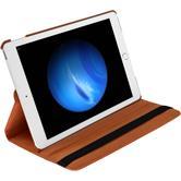 Kunst-Lederhülle iPad Pro 360° orange + 2 Schutzfolien