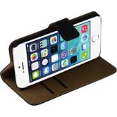 Kunst-Lederhülle iPhone 6s / 6 Wallet schwarz