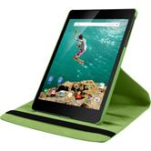 Artificial Leather Case for Google HTC Nexus 9 360° green