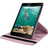 Artificial Leather Case for Google HTC Nexus 9 360° pink