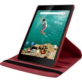 Artificial Leather Case for Google HTC Nexus 9 360° red