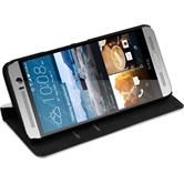 Artificial Leather Case for HTC One M9 Plus Bookstyle white + protective foils