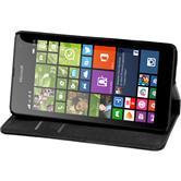 Kunst-Lederhülle Lumia 535 Book-Case schwarz
