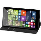 Kunst-Lederhülle Lumia 535 Book-Case weiß