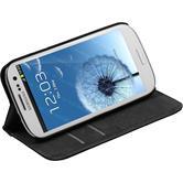 Kunst-Lederhülle für Samsung Galaxy S3 Neo Book-Case schwarz + 2 Schutzfolien