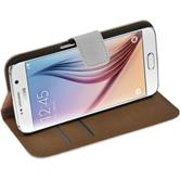 Artificial Leather Case for Samsung Galaxy S6 Wallet white
