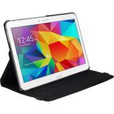 Kunst-Lederhülle für Samsung Galaxy Tab 4 10.1 360° schwarz + 2 Schutzfolien