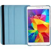 Kunst-Lederhülle Galaxy Tab 4 7.0 360° hellblau + 2 Schutzfolien
