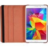 Kunst-Lederhülle Galaxy Tab 4 7.0 360° orange + 2 Schutzfolien