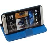 Artificial Leather Case for HTC One  blue