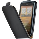 Artificial Leather Case for HTC One S Flipcase black