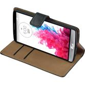 Artificial Leather Case for LG G3 Wallet black