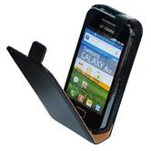 Artificial Leather Case for Samsung Galaxy Ace Flipcase black