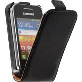 Artificial Leather Case for Samsung Galaxy Y Flipcase black