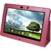 Artificial Leather Case for Asus Transformer Pad Infinity TF700 Wallet hot pink
