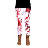 cosey - bedruckte bunte Leggins (Einheitsgröße) - Design Blutflecke