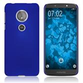 Hardcase Moto E5 (5th Gen) rubberized blue Case