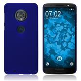 Hardcase Moto G6 gummiert blau Case