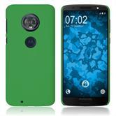 Hardcase Moto G6 gummiert grün Case