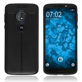 Silicone Case Moto G6 Play leather optics black Case