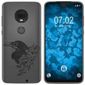 Motorola Moto G7 Plus Silicone Case floral M4-1