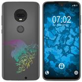 Motorola Moto G7 Plus Silicone Case floral M4-4