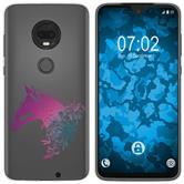 Motorola Moto G7 Plus Funda de silicona floral M5-6