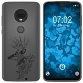 Motorola Moto G7 Plus Silicone Case floral M7-1