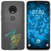 Motorola Moto G7 Plus Silicone Case floral M7-4