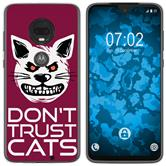 Motorola Moto G7 Plus Silicone Case Crazy Animals M1