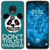 Motorola Moto G7 Plus Silicone Case Crazy Animals Panda M2